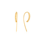 Gold Spike Solid Drop Earrings