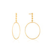 Gold Spike Hoop Earrings by Ania Haie