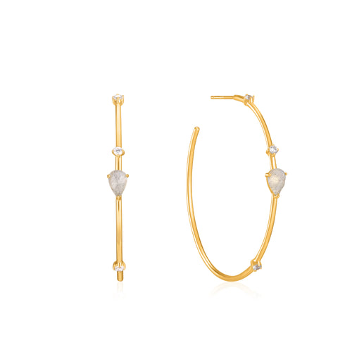Midnight Hoop Earrings by Ania Haie
