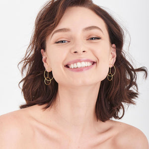 Modern Front Hoop Earrings - Ania Haie Jewellery