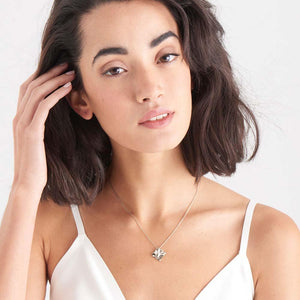 Necklace: Silver Crush Square Necklace by Ania Haie Australia