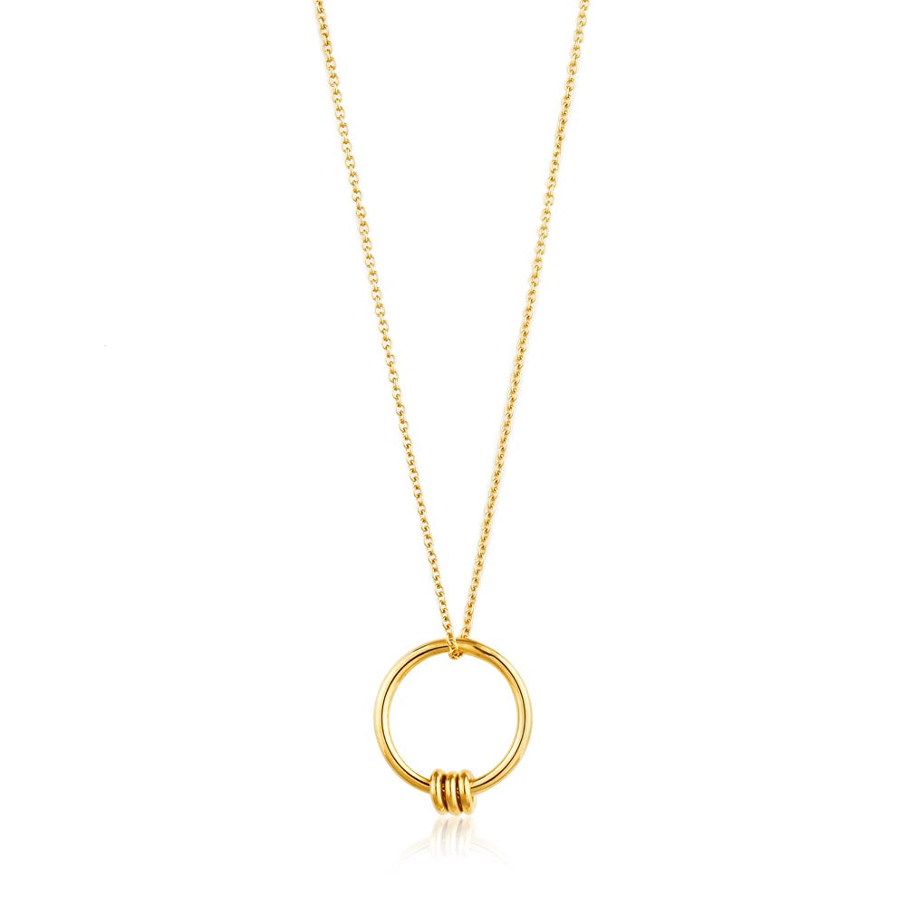 Necklace: Gold Modern Circle Necklace by Ania Haie Australia