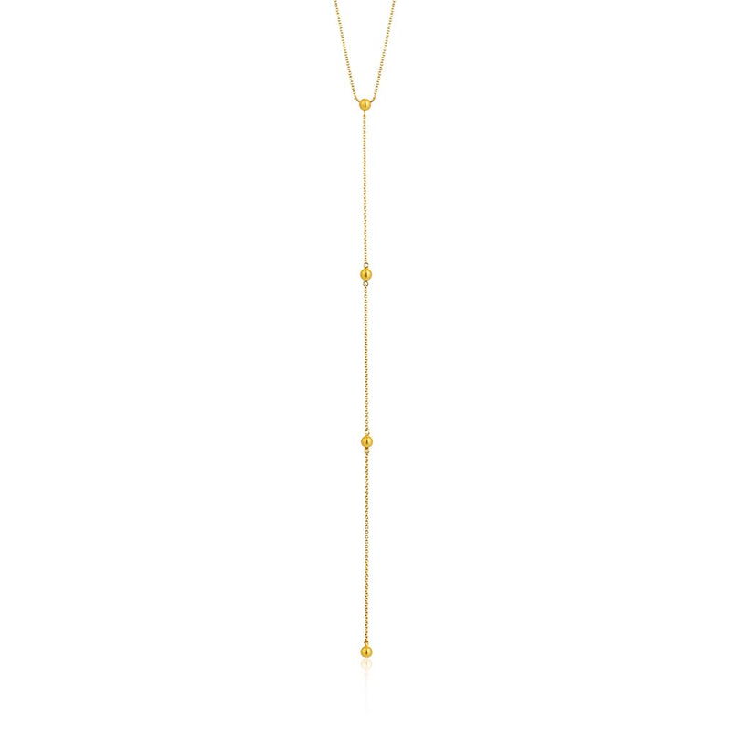 Necklace: Modern Beaded Y Necklace by Ania Haie Australia