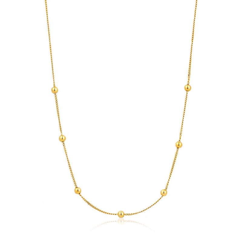 Necklace: Gold Modern Beaded Necklace by Ania Haie Australia