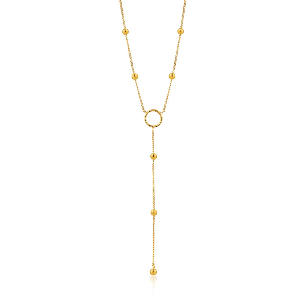 Modern Circle Y Necklace - Ania Haie Jewellery