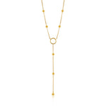 Necklace: Gold Modern Circle Y Necklace by Ania Haie Australia