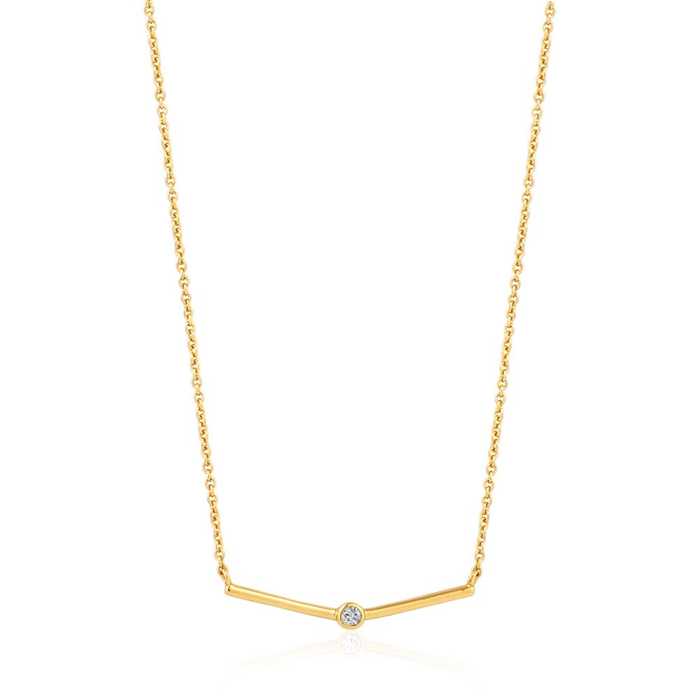 Shimmer Single Stud Necklace - Ania Haie Jewellery