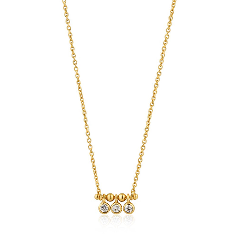Shimmer Triple Stud Necklace - Ania Haie Jewellery