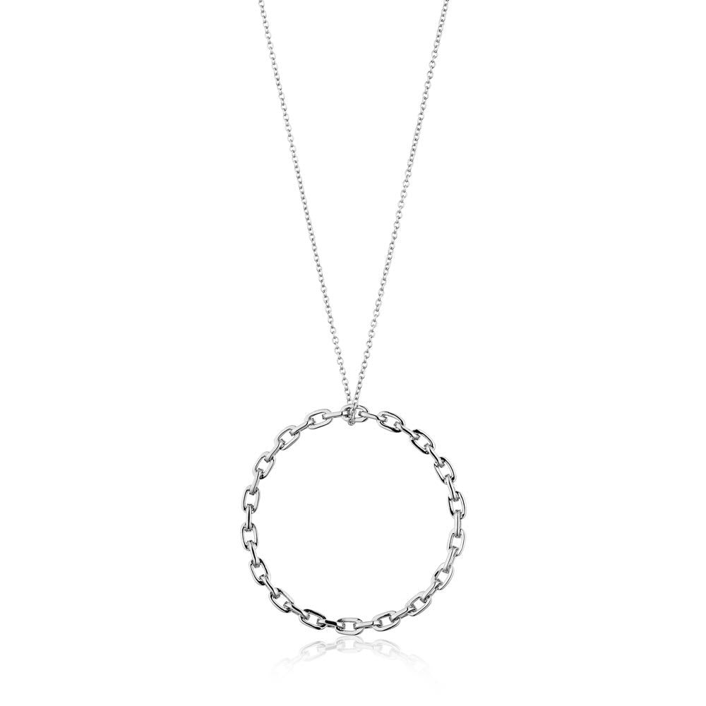 Chain Circle Pendant Necklace - Ania Haie Jewellery
