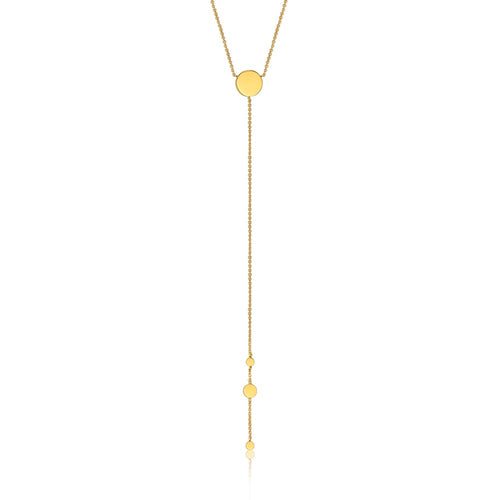 Necklace: Gold Geometry Y Necklace by Ania Haie Australia