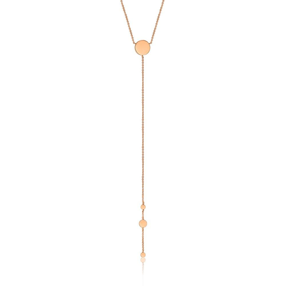 Rose Gold Geometry Y Necklace
