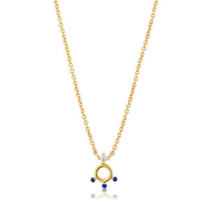 Dotted Circle Pendant Necklace - Ania Haie Jewellery