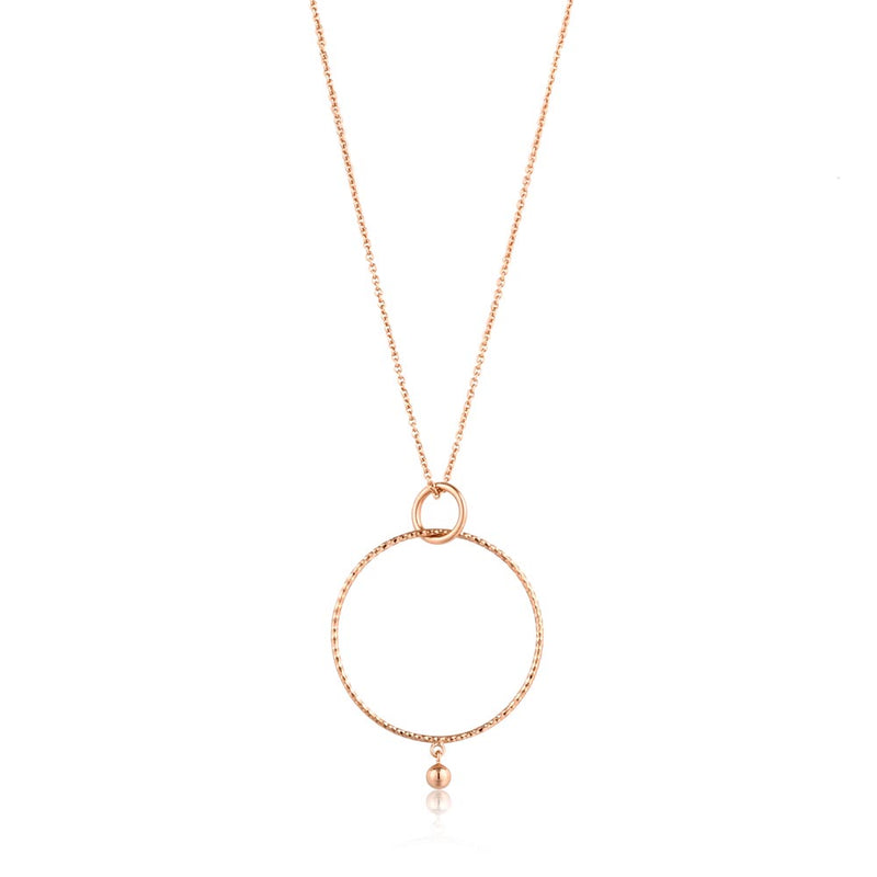 Texture Double Circle Pendant Necklace - Ania Haie Jewellery