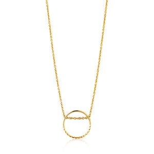 Twist Chain Circle Necklace - Ania Haie Jewellery