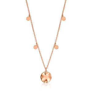 Ripple Drop Discs Necklace - Ania Haie Jewellery