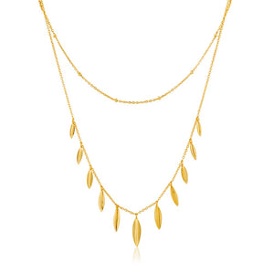 Leaf Double Necklace - Ania Haie Jewellery