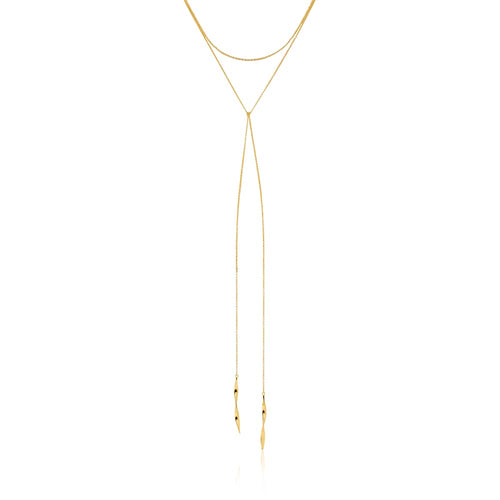 "Necklace: Gold Helix Lariat 16"" Necklace by Ania Haie Australia"