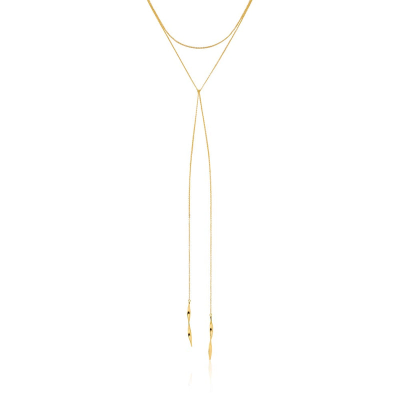 "Helix Lariat 16"" Necklace - Ania Haie Jewellery"