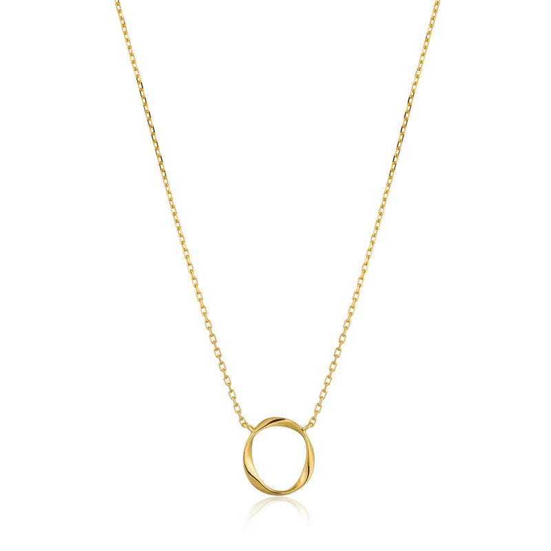 Necklace: Gold Swirl Necklace by Ania Haie Australia