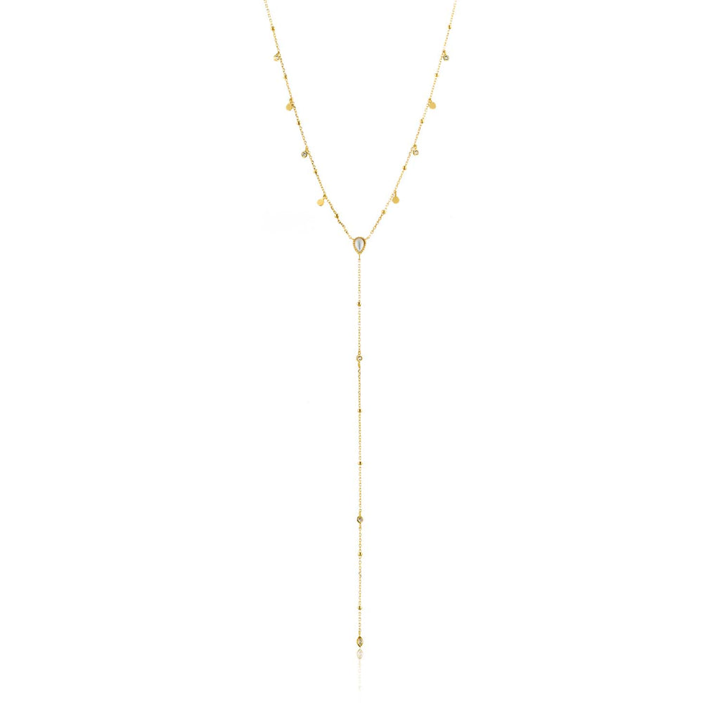 Necklace: Gold Dream Y Necklace by Ania Haie Australia