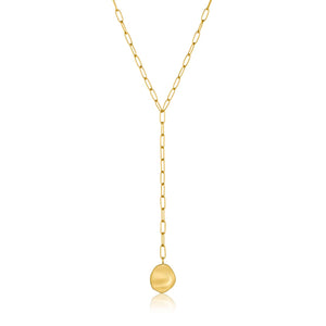 Crush Disc Y Necklace - Ania Haie Jewellery