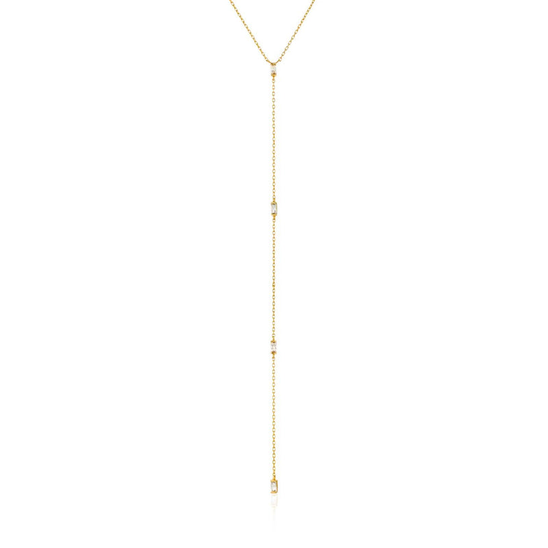 Necklace: Gold Glow Y Necklace by Ania Haie Australia