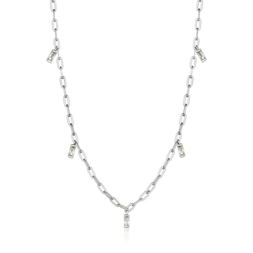 Necklace: Silver Glow Drop Necklace by Ania Haie Australia