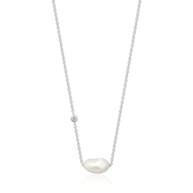 Pearl Necklace Silver by Ania Haie