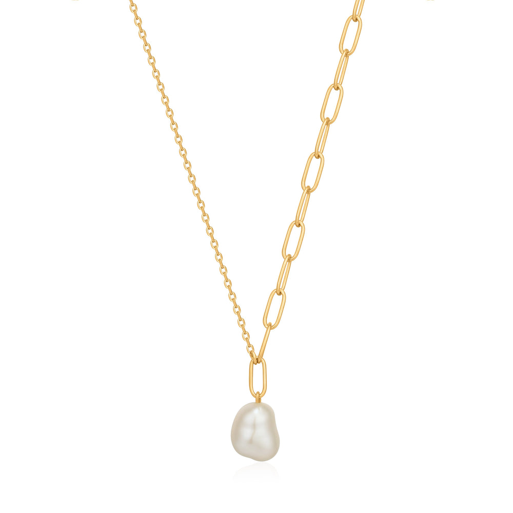 Gold Pearl Chunky Necklace | Ania Haie Jewellery Australia