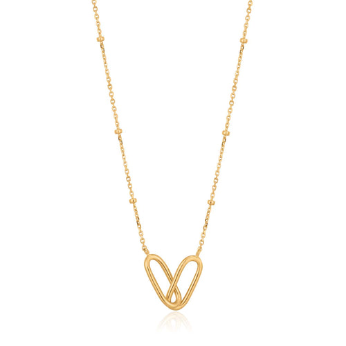 Necklace: Gold Beaded Chain Link Necklace by Ania Haie Australia