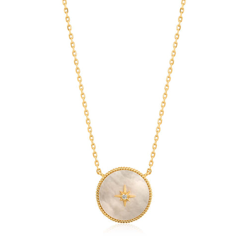 Mother Of Pearl Emblem Necklace - Ania Haie Jewellery
