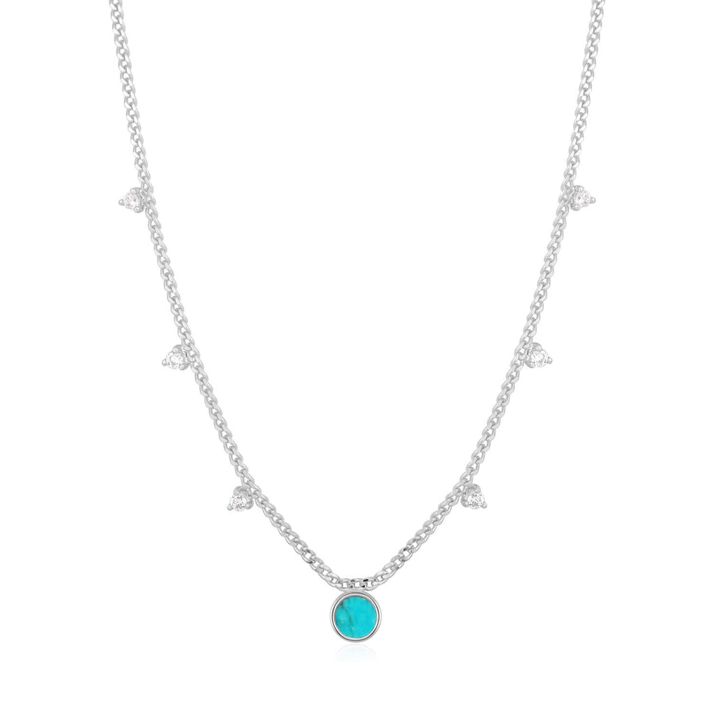Turquoise Drop Disc Necklace - Ania Haie Jewellery