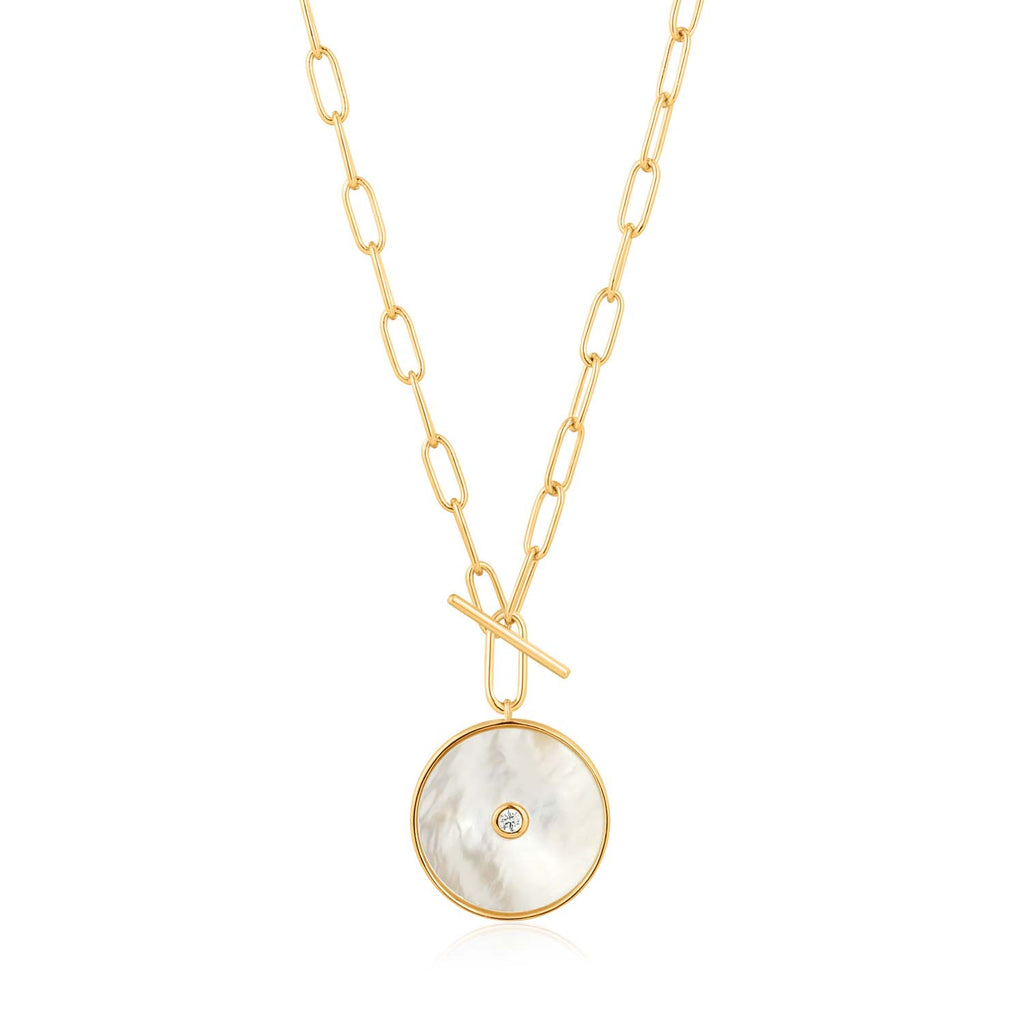 Mother Of Pearl T-Bar Necklace - Ania Haie Jewellery