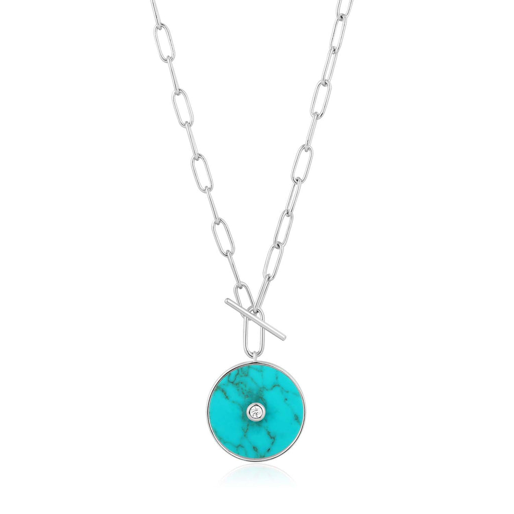Turquoise T-Bar Necklace - Ania Haie Jewellery