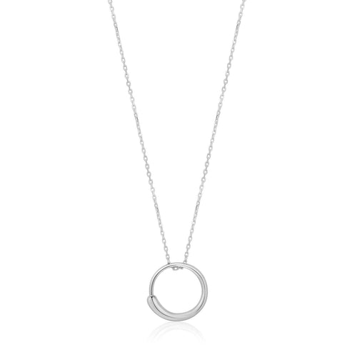 Necklace: Silver Luxe Circle Necklace by Ania Haie Australia
