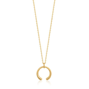 Necklace: Gold Luxe Curve Necklace by Ania Haie Australia