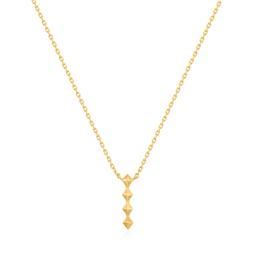 Gold Spike Drop Necklace by Ania Haie