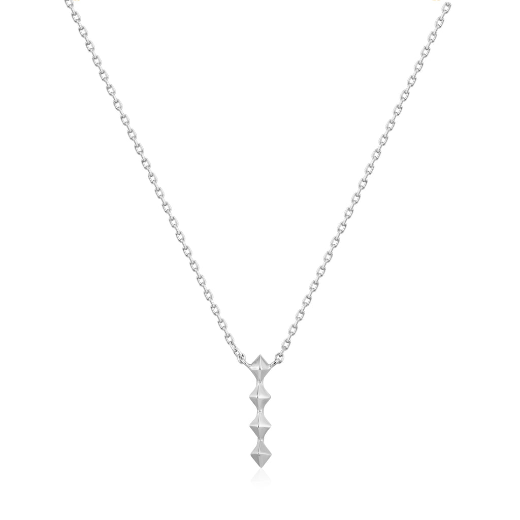 Silver Spike Drop Necklace by Ania Haie