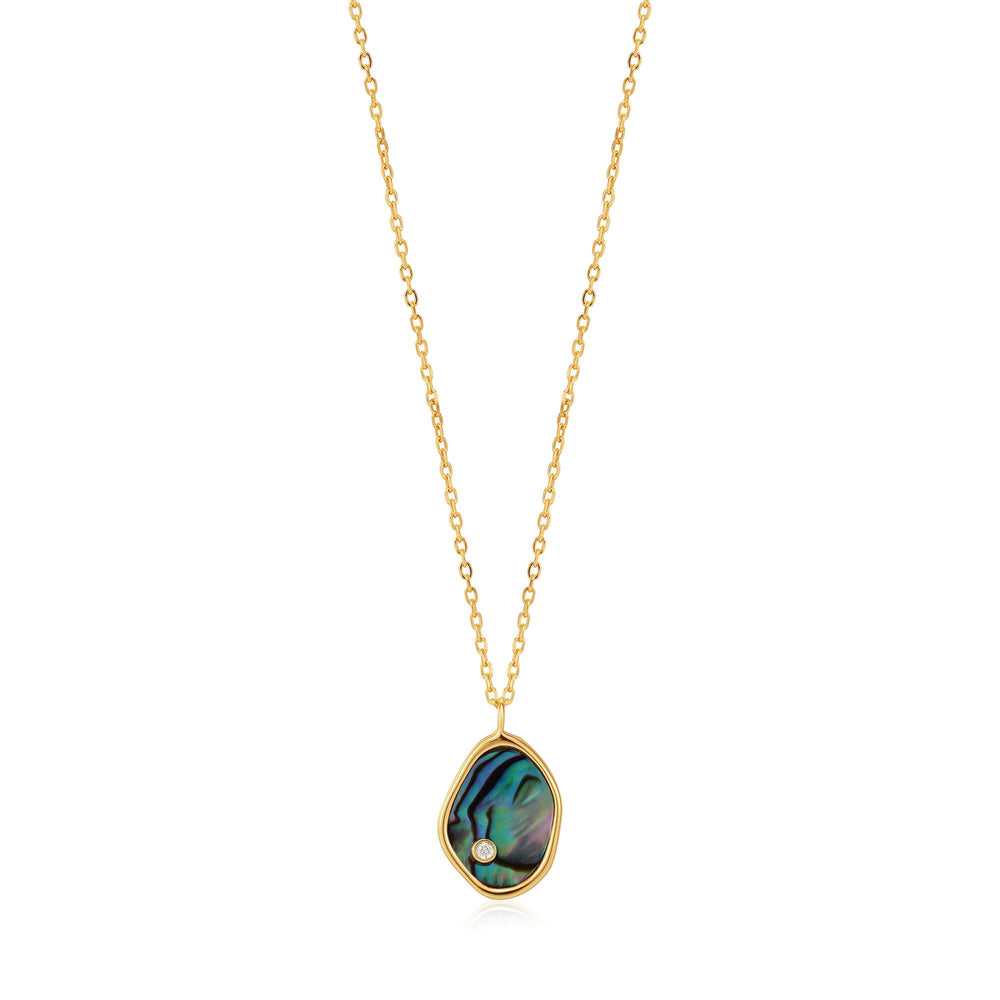 Ania Haie Gold Tidal Abalone Necklace