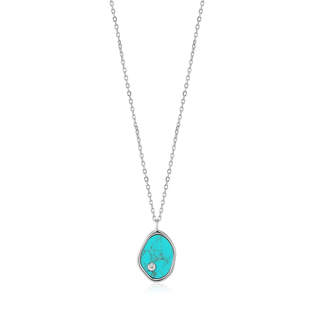 Load image into Gallery viewer, Ania Haie Silver Tidal Turquoise Necklace