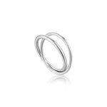 Silver Modern Double Wrap Ring