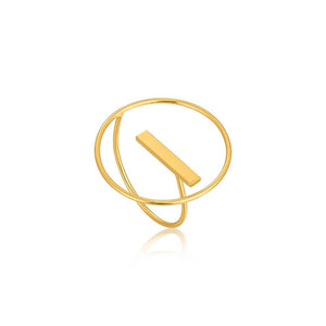 Ring: Gold Modern Circle Adjustable Ring by Ania Haie Australia