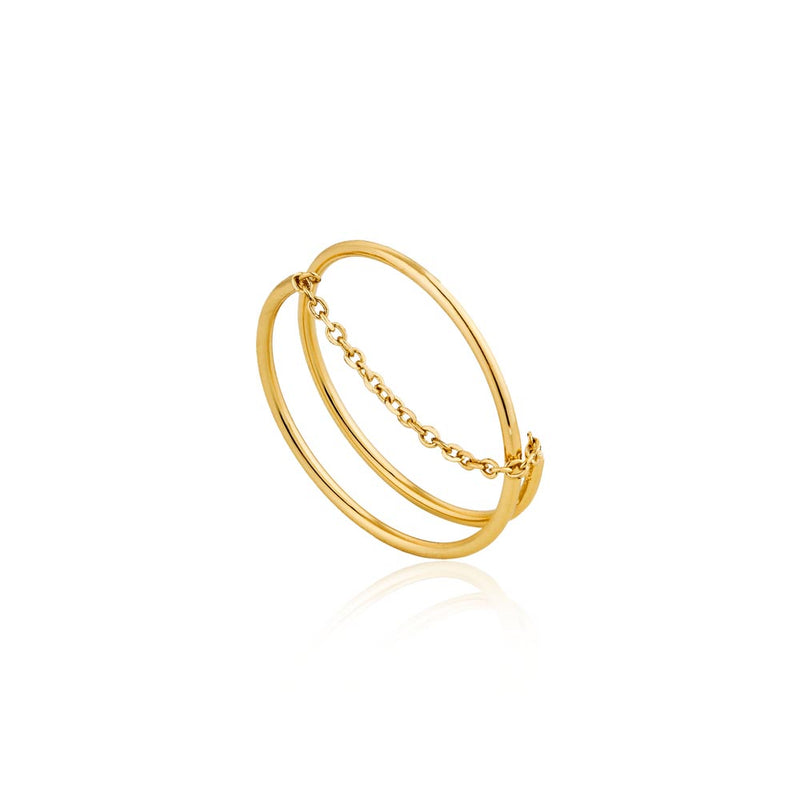 Modern Twist Chain Ring - Ania Haie Jewellery