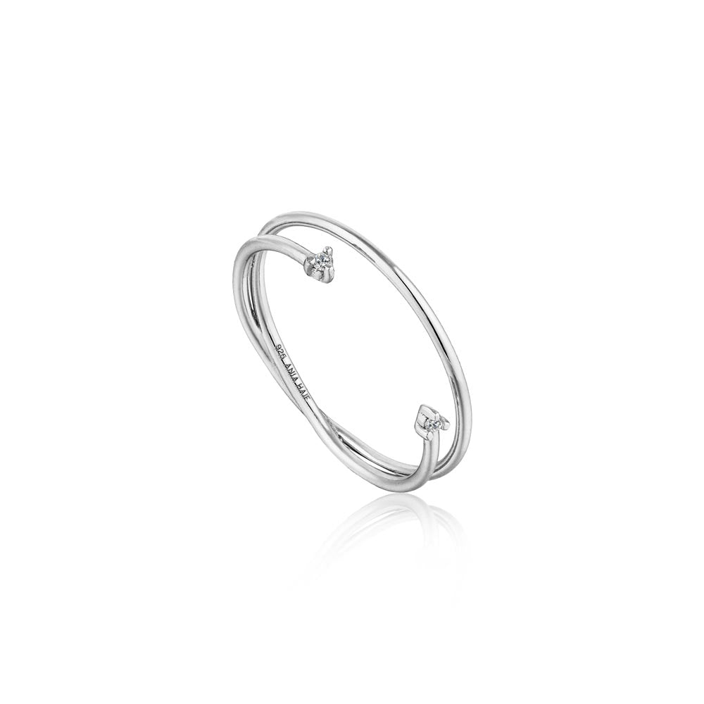 Shimmer Double Ring - Ania Haie Jewellery
