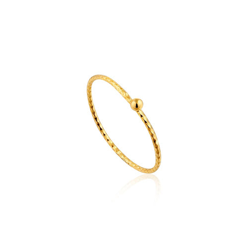 Ring: Texture Small Ball Ring by Ania Haie Australia
