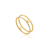 Texture Double Band Ring - Ania Haie Jewellery