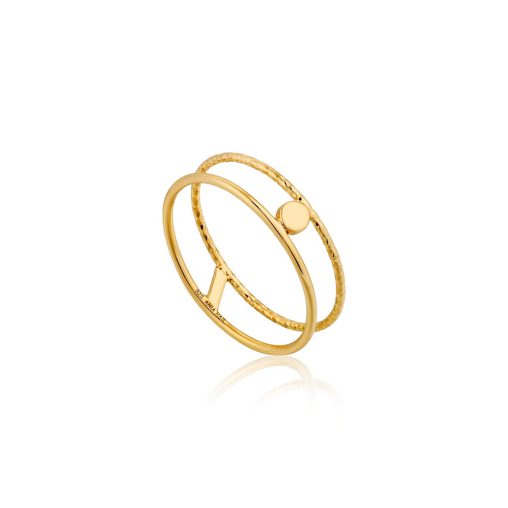Ring: Texture Double Band Ring by Ania Haie Australia