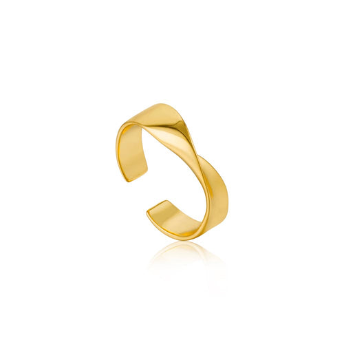 Ring: Gold Helix Adjustable Ring by Ania Haie Australia