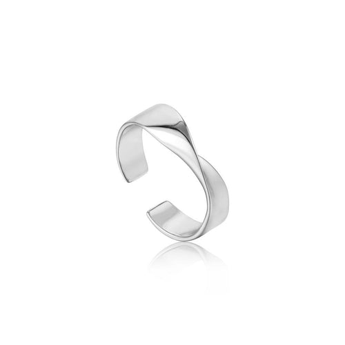 Ring: Silver Helix Adjustable Ring by Ania Haie Australia