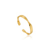Ring: Gold Helix Thin Adjustable Ring by Ania Haie Australia